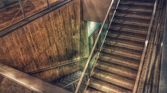 Stairs down to the offices... (Nicholas Eckhart) Tags: usa retail mi america mall us michigan detroit northland stores southfield hudsons 2015 deadmall dyingmall northlandcenter jlhudsoncompany