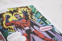 """I am MAGNETO!"" (itsarareis) Tags: red brazil cute love nerd brasil comics photography 50mm nice comic br purple geek sweet cartoon xmen lovely hq marvel brasilia marvelcomics magneto"