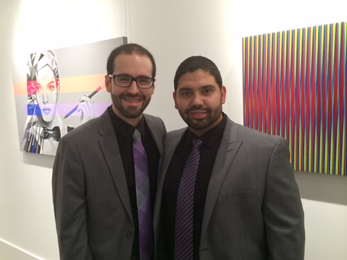 Owners of the new Canale-Diez Art center in Coral Gables, Marco Canale and Manuel Diaz at their grand opening