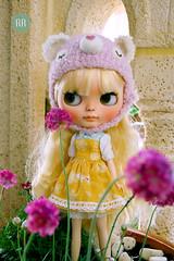 Custom # 169 (Ris~Ras) Tags: cute makeup carving blonde blythe beforeandafter custom takara risras fluffyhat scottymum