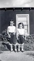 Patrice and Aleda, in Utah - summer 1955
