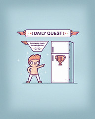 Daily quest (randyotter) Tags: silly cute art kids illustration children design funny jay arty awesome aaron tshirt colourful threadless tee epic whimsical randyotter