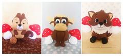 Bichinhos da Floresta (AnnCrafts Artesanato) Tags: baby animal decoration feitoàmão felt feltro floresta decoração esquilo bichinhos moldes raposa alce feltdoll apostila bonecasfeltro
