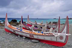 Fishing boats on Orchid Island, Taiwan蘭嶼 (mattlaiphotos) Tags: indigenous tribe pirogue culture tradition boat fishing canoe wood carving painting seascape taiwan art aboriginal orchid island pacific ocean sea 台灣 拼板舟 風景 海邊 原住民 fishingboat
