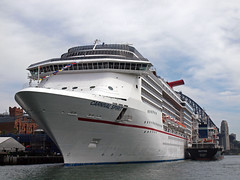Carnival Spirit up close (PhillMono) Tags: voyage new cruise carnival wales boat ship view harbour spirit south sydney australia vessel olympus bow quarter tanker e30 destine