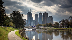 Along Yarra River, Melbourne (Pavel Ryjkov) Tags: bridge cruise urban water skyline zeiss canon buildings river boat outdoor australia melbourne yarra melbournearchitecture