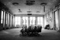 gather. (jonathancastellino) Tags: toronto abandoned hotel stand chair ruins decay room seat ruin meeting collection ballroom derelict kingedward gathered gather