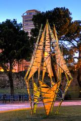 Monumenti precari (Luca Zanta) Tags: bamboo arena monumenti precari romana padova struttura installazione