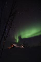 Light in the Attic (AliJG) Tags: winter night finland europe lapland northernlights auroraborealis photographyworkshop tundrea photoquestadventures
