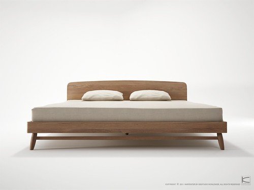 TWIST Bed-teak