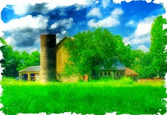 Country dream... (Sherrianne100) Tags: ozarks missouri painterly idyllic barn rural country