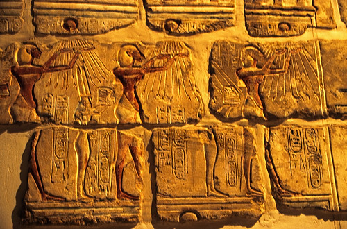 "Ägypten 1999 (272) Luxor-Museum: Mauerteil des Gem-pa-Aton • <a style=""font-size:0.8em;"" href=""http://www.flickr.com/photos/69570948@N04/27753847933/"" target=""_blank"">View on Flickr</a>"