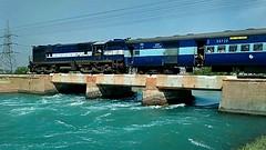 Blue Blue Everywhere!! (Puru P Dixit (Die hard RF)) Tags: blue waters bhakracanal ldh wdm3a indianrailways