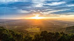 The right place (John Getchel Photography) Tags: trees sunset clouds virginia us nationalpark unitedstates farm valley lensflare shenandoah sunrays skylinedrive frontroyal
