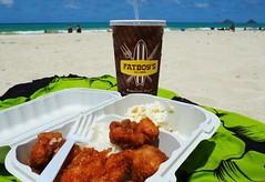 Fatboy's Garlic Chicken Plate Lunch at Lanikai Beach (jenesizzle) Tags: oahu hawaii island paradise outdoors landscape localgrindz grindz lanikai lanikaibeach kailua