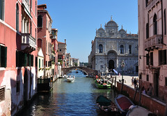 DSC_0010 (bikerchisp) Tags: venice italy ital italia venise canals lagoon bridges gondola holiday vacation europe adriatic sea water waterways streets blue sky bluesky sunshine bikerchisp