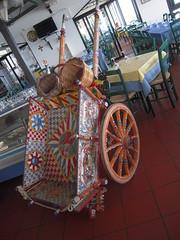 CUCINA AL PIERROT (marsupilami92) Tags: italie sicile le jettours selinunte restaurant ristorante charrette