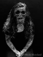 Don't Get on My Bad Side (micahmoreland) Tags: blackandwhite girl face dark death skull scary evil surreal anger creepy morbid haunting disease grotesque