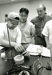 Professor Hemmerlin oversees an experiment (PUC Special Collections) Tags: laboratory lab pacificunioncollege chemistrydepartment chemistrylab chemistry beakers test tubes scientist labcoat experiments angwin california adventist sda seventhdayadventist college