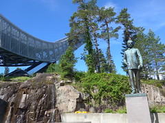 The Holmenkollen ski jump (Oren & Shimrit) Tags:       oslo akershus fortress norway viking vikings storting parliament opera house operahuset oslofjord frogner park vigeland sculpture bygdy peninsula museum holmenkollen ski jump jernbanetorget square rdhus city hall nobel peace prize barcode project the scream edvard munch madonna norsk folkemuseum norwegian cultural history gol stave church center kontiki fram thor heyerdahl vikingskiphuset ship oseberg national gallerycomfort hotel grand central