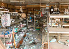 A shop in the highly contaminated area destroyed by the 2011 earthquake five years after, Fukushima prefecture, Tomioka, Japan (Eric Lafforgue) Tags: 0people asia atom atomic catastrophe colourpicture contaminated contamination daiichi danger dangerous destroyed devastated earthquake ecology energy environment environmental exclusion forbidden fukushima fukushimaexplosion fukushimaprefecture hazard horizontal indoors irradiate japan japan161526 night nopeople nobody nuclearaccident nuclearindustry pollution radiation radioactive radioactivity risk stilllife tomioka unsafe giappone   japo japonia japonsko japonya jepang jepun  oo