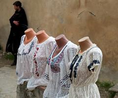 Four mannequins and a man, blouses for sale. (nick taz) Tags: forsale blouses rasnovcastle rasnov fourmannequinsandaman mannequins