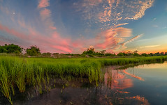 Returning journey  (kaising_fung) Tags: water brooklyn clouds marsh wetland