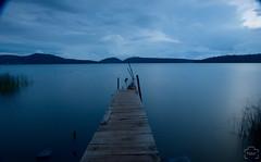Muelle (Plemus) Tags: longexposure blue water lago muelle dock agua