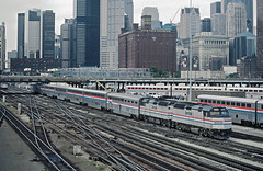 5 of Amtrak F40PHRs (railfan 44) Tags: amtrak