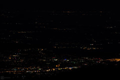 Lights in the distance 5 (zeriphon_the_real) Tags: atnight night dark photo photography dslrphoto dslrphotography nikon nikond7100 zeriphon lights citiesatnight citiesoflight mountainview