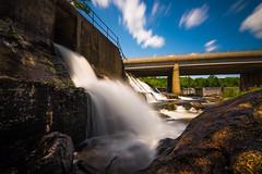 Underpass Dam at Collinsville, CT (Gabriel Mirasol) Tags: nikon d600 tokina 1116mm dx long exposure waterfall manmade architecture