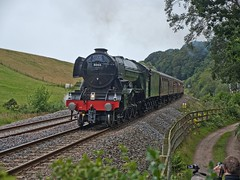 """LNER A3 Class 4-6-2 No 60103 Flying Scotsman in charge of """"The Waverly"""" on the return leg at How Mill on the Newcastle to Carlisle Line (penlea1954) Tags: lner a3 class 462 no 60103 flying scotsman the waverley how mill newcastle carlisle line uk steam railway england outdoor railroad vehicle ner cumberland northumberland borders trains train transport rail locomotive locomotives loco engine pacific sir nigel gresley brampton"""