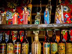Saints and alcohol (msabba) Tags: saints popular culture cachaa spirits rum triunfo pernambuco brazil