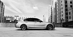 (Bridget Corcoran) Tags: f30 f31 f32 f33 bmw 3 series chicago blackandwhite monochrome car outside sky outdoor building m403 msport e9x e90 e92 angel eyes corona rings led lci 340