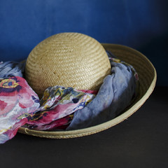 ready for the sun... (Wendy:) Tags: hat sunhat scarf odc straw htt