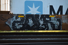 ZOLR (TheGraffitiHunters) Tags: graffiti graff spray paint street art colorful freight train tracks benching benched zolr intermodal