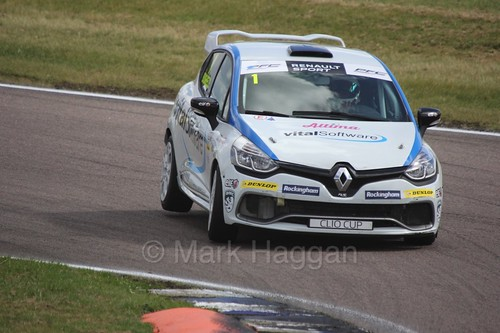 Mike Bushell at Rockingham during the Clio Cup, August 2016