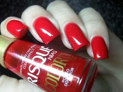 Panvel - Desire + Risqu - Poo do Amor (Barbara Nichols (Babi)) Tags: risqu panvel red rednailpolish vermelho esmaltevermelho nails mos unhas nailpolish