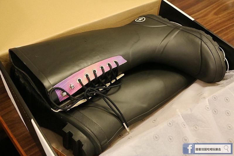 LANDFER時尚長筒雨靴  防風防雨兼具美感MIT100%純天然橡膠手工女用時尚雨鞋推薦
