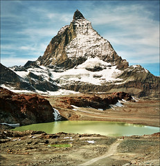 Domination... (Katarina 2353) Tags: landscape alps mountain switzerland swiss zermatt matterhorn lake autumn katarina2353 katarinastefanovic film nikon