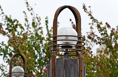 City's Shield Generators (Orbmiser) Tags: 70300vr autumn d90 fall nikon oregon portland stone column light globe