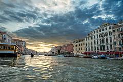 Serenity (korylp) Tags: venice venezia italy italia water sunset storm gondola boat view europe summer sun clouds canal abigfave history travel