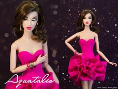 "Aquatalis "" Pinkalicious"" by AlexNg (AlexNg & QuanaP) Tags: pink hot flower sexy fashion by ruffles dress monogram royalty phots alexng pinkalicious quanap aquatalis"