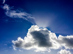 Enlightenment... (Gerry@RT ~ THANK YOU) Tags: blue sky clouds bluesky cloudscape crepuscularrays adobephotoshopexpress iphone6plus 23rdmarch2015