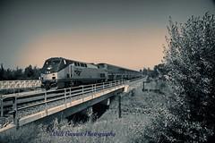 2015_04_18 westbound Amtrak (Walt Barnes) Tags: railroad blue blackandwhite bw train canon eos blackwhite track engine rail monotone calif amtrak locomotive ge vignette topaz pinole trackside dieselelectric 60d p42dc canoneos60d topazadjust eos60d topazbweffects topazblackwhiteeffects wdbones99