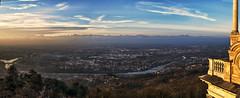 The sky over Turin (Fil.ippo (AWAY)) Tags: panorama alps landscape torino cityscape hill po turin alpi filippo collina superga d7000 filippobianchi