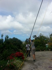 J66CD and J69Z pushing the pole up