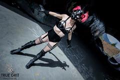 Fierce (truegritproductionsltd) Tags: sexy vancouver pose punk industrial fierce traintracks latex gasmask burlesque