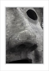 The Stare (Mike Palmer Fauxtography) Tags: park trees bw sculpture water monochrome forest canon landscape eos mono head trail northumberland 7d usm kielder silvas f28l simparch capitalis ef1735mm