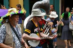 French Quarter Fest 2015 Kickoff Parade on Bourbon Street